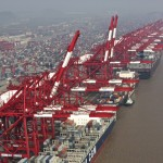 Shanghai port container volumes up in August