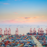 Shanghai port container throughput up in October