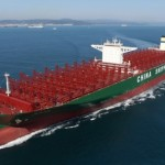 CSCL container vessel grounded in Elbe river