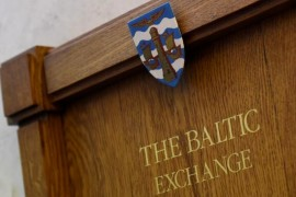 A wooden plaque is seen on a wall at The Baltic Exchange in the City of London, Britain March 2, 2016. REUTERS/Toby Melville