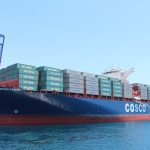 First big containerships en route to the Panama Canal as workhorse vessel bows out