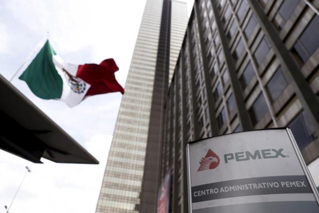 Pemex logo is seen at the headquarters of state-owned oil giant in Mexico City, Mexico March 18, 2016. REUTERS/Edgard Garrido - RTSB5IW
