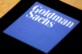 The logo of Goldman Sachs is displayed in their office located in Sydney, Australia, May 18, 2016.    REUTERS/David Gray