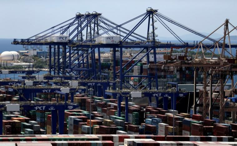 Containers are seen at the Piraeus Container Terminal, near Athens, Greece, June 6, 2016. REUTERS/Alkis Konstantinidis
