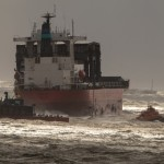 Cargo ship evacuated off England's storm-hit southern coast