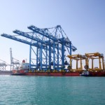 Three New STS Quay Cranes at Khalifa Port