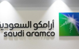 FILE PHOTO: Logo of Saudi Aramco is seen at the 20th Middle East Oil & Gas Show and Conference (MOES 2017) in Manama, Bahrain, March 7, 2017. REUTERS/Hamad I Mohammed/File Photo