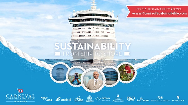 Carnival Corporation releases its 2016 sustainability report as part of the launch of its new dedicated sustainability website, available here: http://carnivalsustainability.com. The report and complementary site detail the company's sustainability efforts and the progress made in 2016 toward its 2020 sustainability performance goals. (PRNewsfoto/Carnival Corporation & plc)