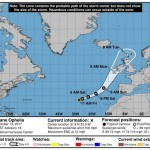 Ophelia turns into most eastern major Atlantic storm on record