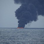 Stricken tanker leaves large oil slick in East China Sea