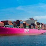 ONE Takes Delivery of 14,000 TEU Magenta-Color Newbuild