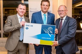 GAC UK MD Herman Jorgensen Green  Award Chairman Dimitrios Mattheou and Executive Director Jan Fransen