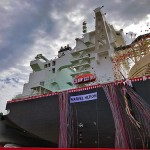 Mitsubishi Shipbuilding Christens Mitsui's New LNG Carrier