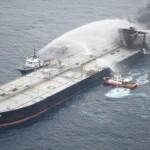 Sri Lanka: Oil slick from fire-stricken supertanker
