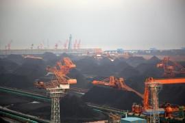 Qinghuangdao Port is a major port for coal transportation.
