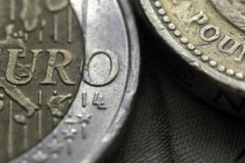 A two Euro coin is pictured next to a one Pound coin in an illustration taken March 16, 2016.  REUTERS/Phil Noble/Illustration