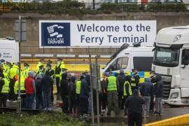 Clogged U.K. Port