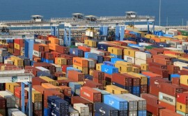 FILE PHOTO: Containers are seen at Abu Dhabi's Khalifa Port after it was expanded in Abu Dhabi, UAE, December 11, 2019. REUTERS/Satish Kumar/File Photo